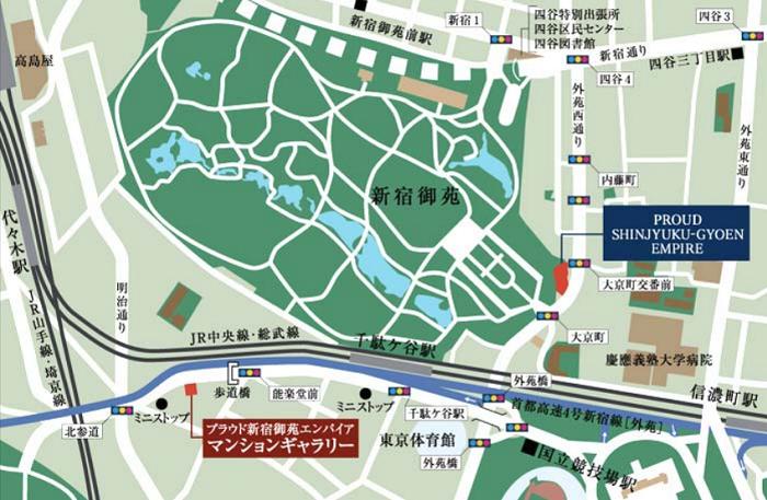 プラウド新宿御苑エンパイア_地図