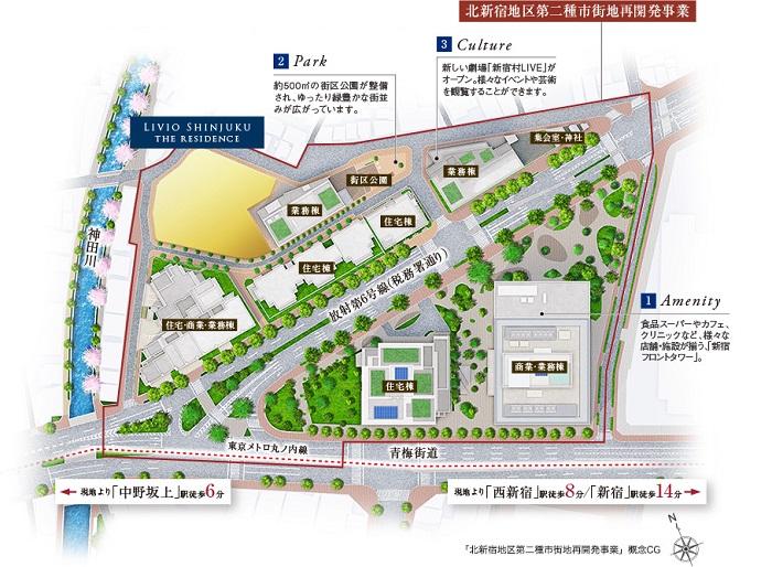 北新宿地区第二種市街地再開発事業