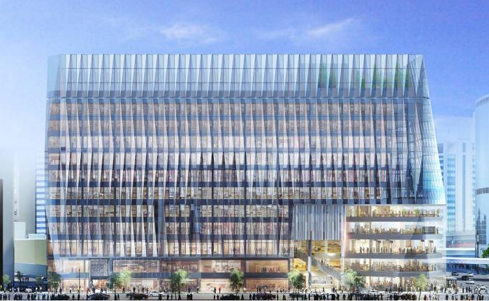 銀座5丁目プロジェクト_外観完成イメージ_2_西銀座通り側