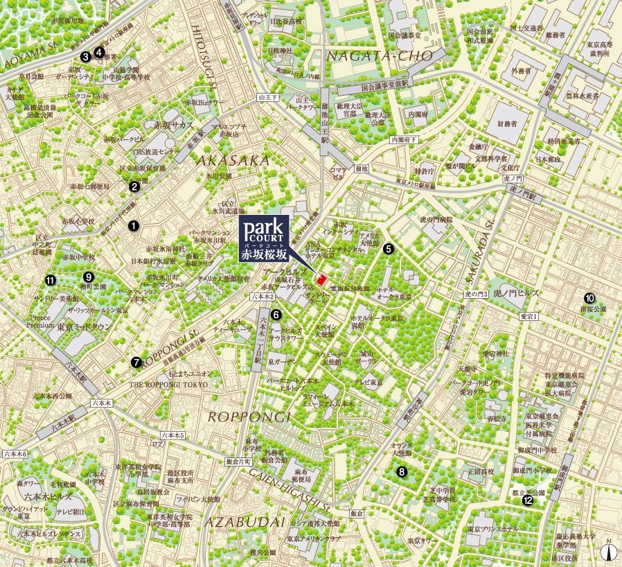 パークコート赤坂桜坂_地図