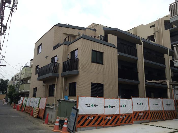 パークホームズ四谷三丁目_工事進捗状況の写真_2015年7月下旬現在_1