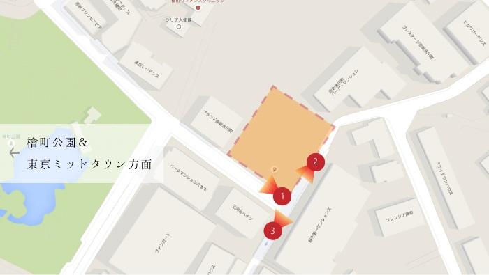 フォレセーヌ赤坂檜坂_map