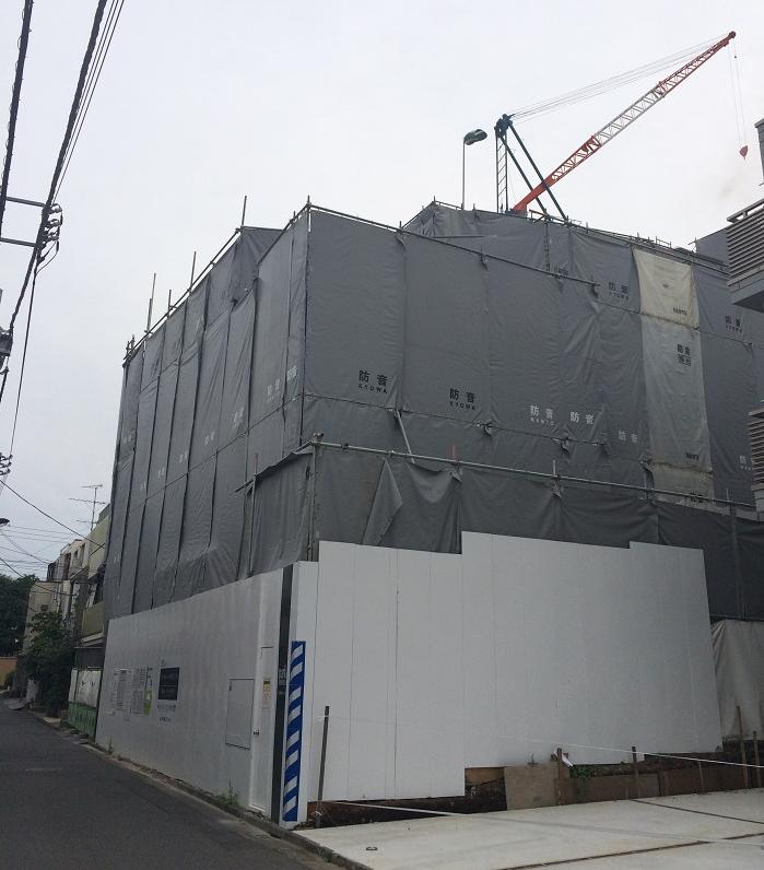 パークホームズ四谷三丁目_工事進捗_2015.5月中旬_1