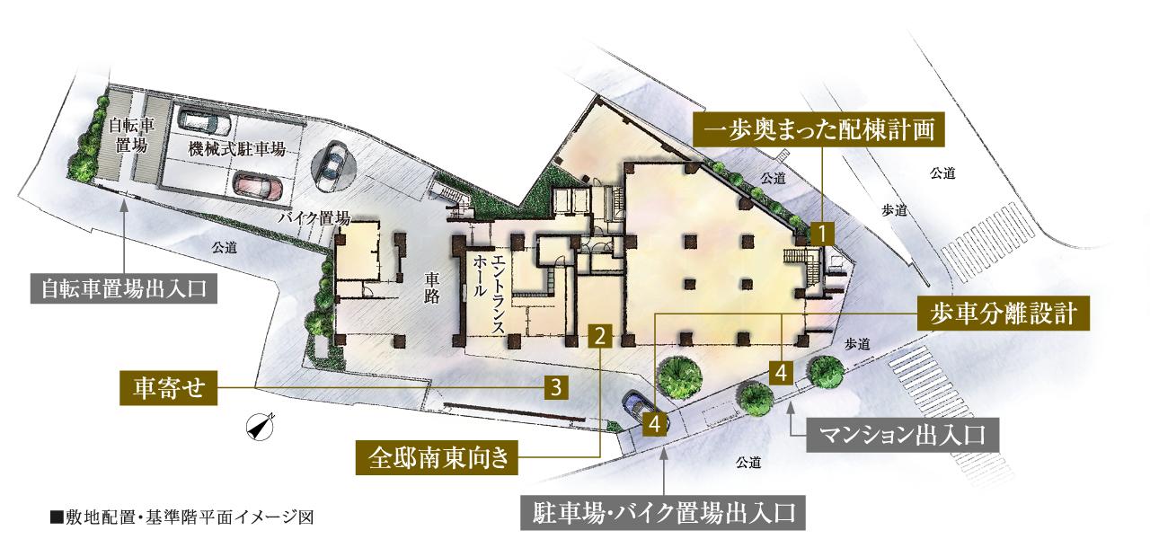 広尾南計画_9_敷地計画