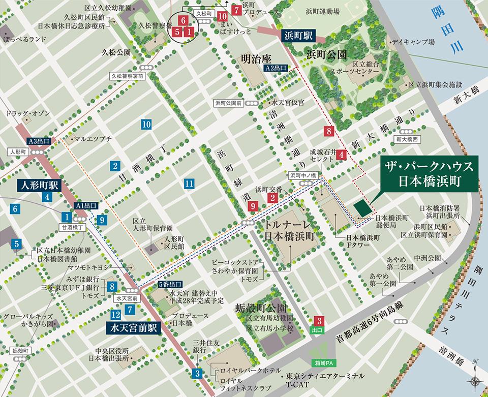 ザ・パークハウス日本橋浜町の地図写真/住所は中央区日本橋浜町3-24(地番)