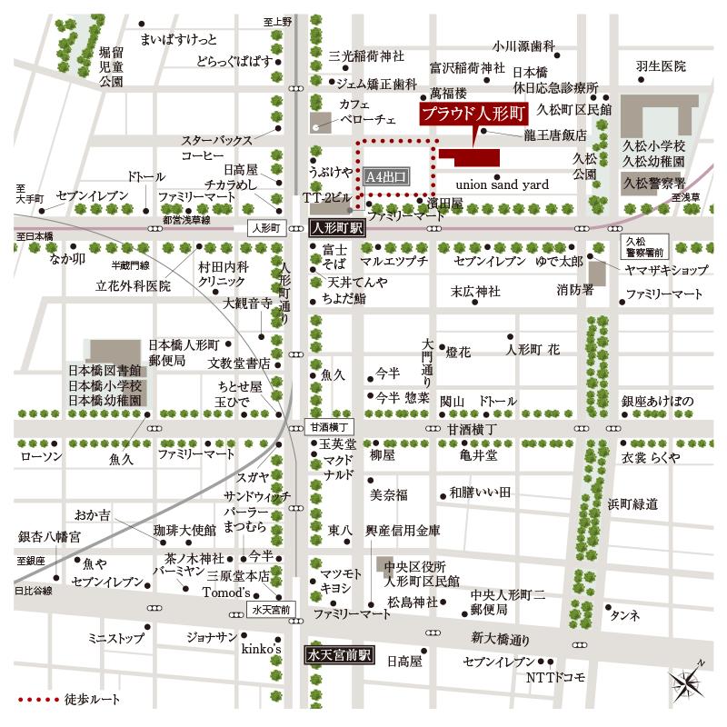 プラウド人形町_野村不動産_画像写真_8_地図