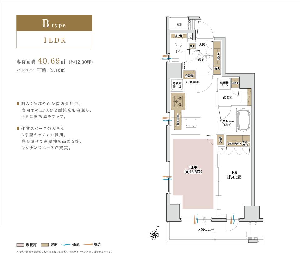 plan_b_1LDK_40.69平米
