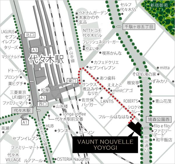 ヴァントヌーベル代々木_現地写真_外観_10_住所・地図