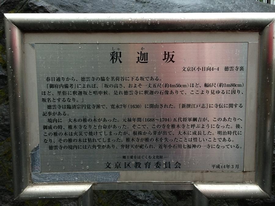 ザ・パークハウス文京小日向近くの釈迦坂