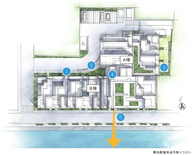 ブリリア文京江戸川橋の敷地計画/現地レポ
