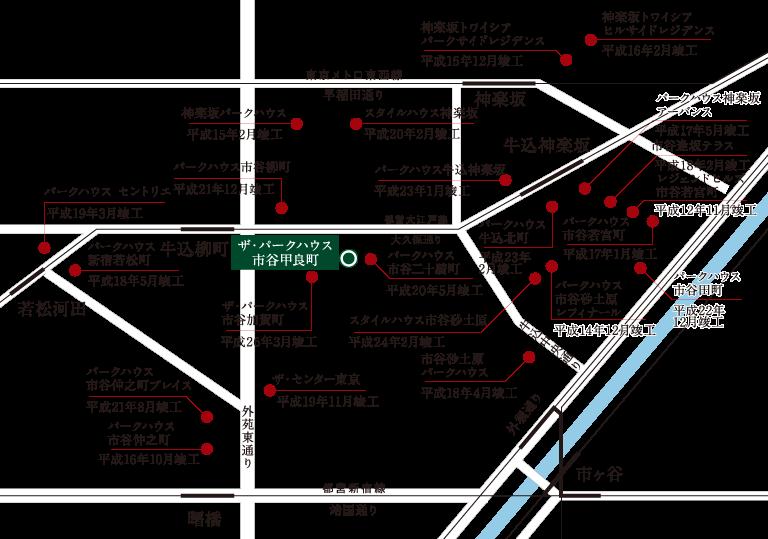 ザ・パークハウス市谷甲良町_三菱地所の市ヶ谷・神楽坂・飯田橋エリアのマンションっ供給状況