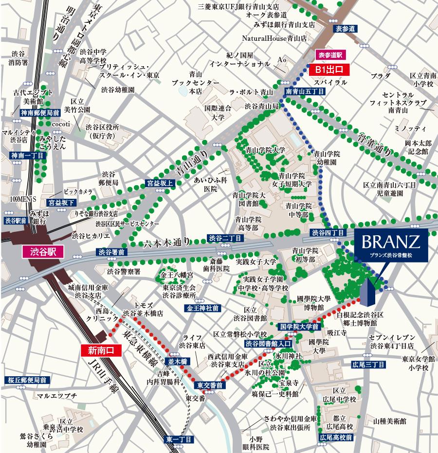ブランズ渋谷常盤松の住所は?渋谷、表参道、恵比寿が使える東急不動産マンション