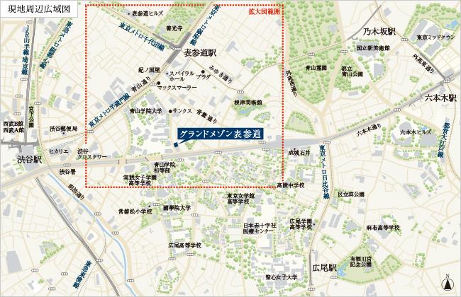 グランドメゾン表参道の住所・地図。渋谷の高級マンション