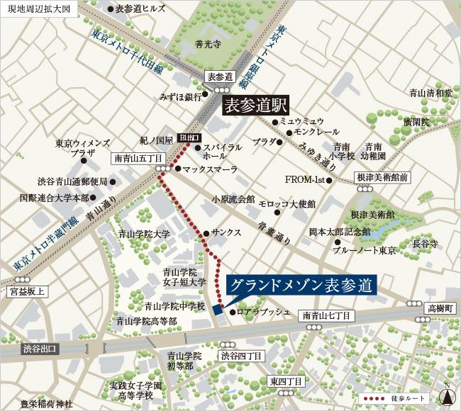 グランドメゾン表参道の住所・地図。渋谷4丁目のマンション
