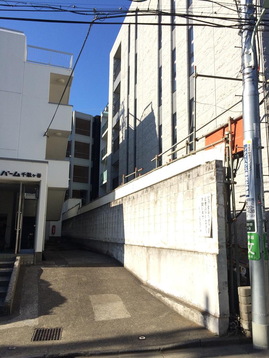 シティハウス神宮北参道の工事進捗現地画像_2015年12月末_となりの壁