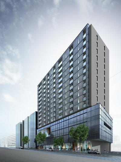 渋谷宮益坂ビルディングの建て替え後のイメージパース