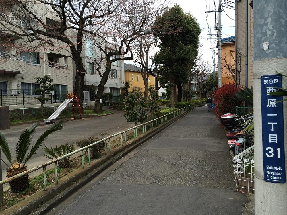 パークリュクス渋谷西原_玉川上水旧水路西原緑道