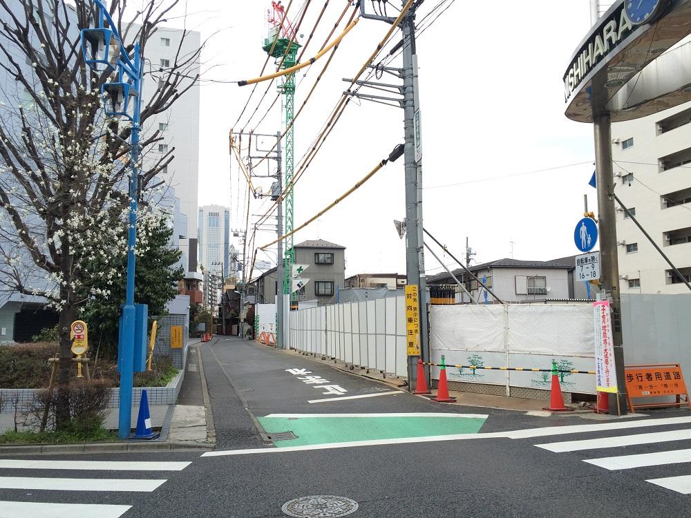 パークリュクス渋谷西原_現地の交差点