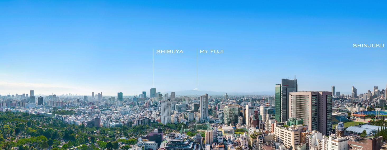 パークコート青山ザタワー_眺望_渋谷・新宿方面」