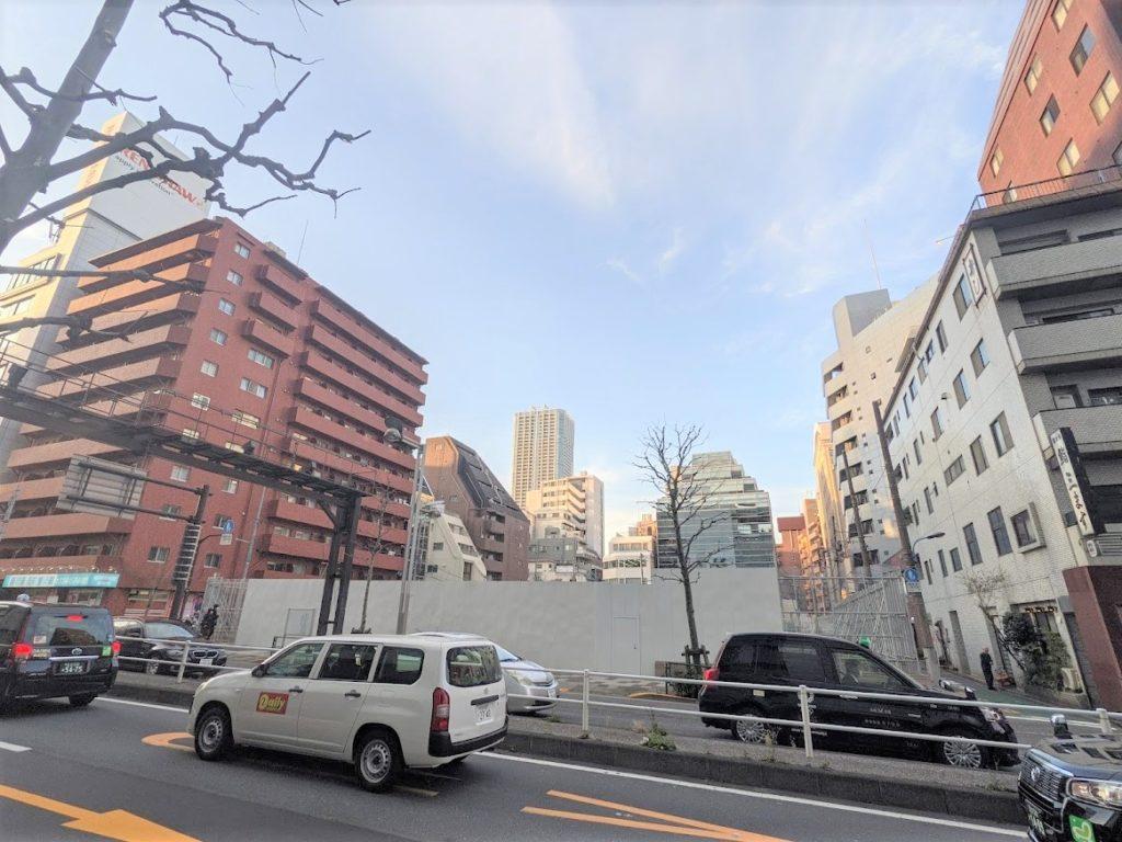 新宿区四谷4丁目計画の現地の雰囲気